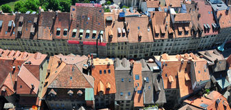 Old brown tile roofs Royalty Free Stock Images