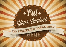 Old brown vector round retro vintage label Royalty Free Stock Photo