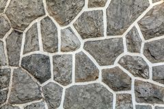 Old brown  wall with stone masonry, background, texture.  Stock Photography