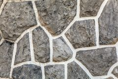 Old brown  wall with stone masonry, background, texture.  Royalty Free Stock Photography