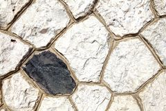Old brown  wall with stone masonry, background, texture.  Royalty Free Stock Photo