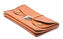 Old brown wallet Royalty Free Stock Images
