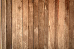 Old brown wood panel wall with textures. And backgrounds Stock Images