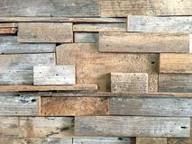 Old brown wood texture on the wall background royalty free stock photography