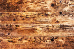 Old brown wooden background and nothing else. Stock Images
