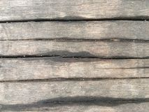 Old brown wooden board moisture content and sand. royalty free stock photo