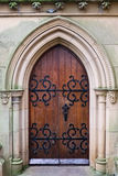 Old Brown Wooden Church Door Royalty Free Stock Photos