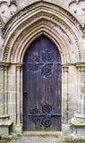 Old Brown Wooden Church Door Stock Photography