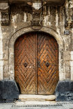 Old brown wooden door. Royalty Free Stock Images