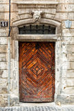 Old brown wooden door. Royalty Free Stock Image