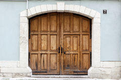 Old brown wooden door. Stock Photography