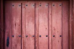 Old brown wooden door detail Stock Photos