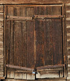 Old brown wooden door Royalty Free Stock Photo
