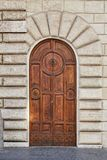 Old wooden door in Rome royalty free stock images
