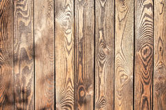 Old brown wooden fence background texture Stock Images