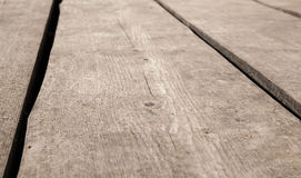 Old brown wooden floor perspective. Background Royalty Free Stock Photography