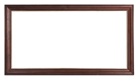 Old brown wooden frame Royalty Free Stock Photo