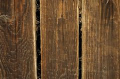 Old brown wooden planks with spider web Royalty Free Stock Photography