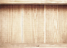 Old brown wooden planks texture with shelfs. Vector wooden background Stock Image