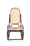 Old brown wooden rocking chair Royalty Free Stock Photography