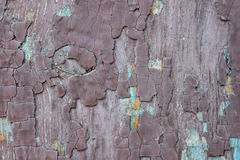 Old brown wooden surface. With cracks and stains Stock Photography