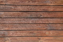 Old brown wooden wall, detailed background photo texture. Wood plank fence close up Stock Images