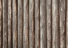 Old brown wooden wall of rural house Stock Photos