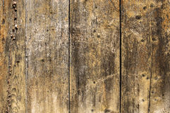 Old brown wooden wall with scratches Stock Photography