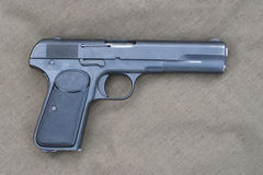 Old Browning hand gun Stock Images