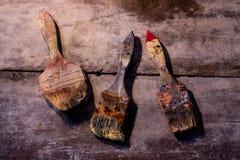 Old brush stock image