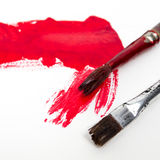 Old Brush Painting Royalty Free Stock Images