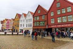 Old Bryggen in Bergen, Norway Stock Photography