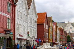 Old Bryggen in Bergen, Norway Royalty Free Stock Photography