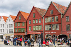 Old Bryggen in Bergen, Norway Royalty Free Stock Photos
