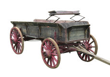 Old buckboard wagon isolated. Stock Photography