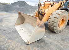 The old bucket of the excavator. Liberia Stock Images
