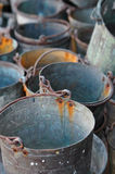 Old buckets. Old and rusting buckets Stock Image