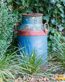 Old buckets milk, beautifully painted Stock Image
