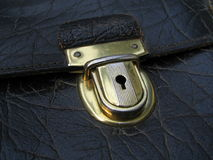 Old Buckle. Buckle of an old leather briefcase Stock Images