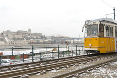 Old Budapest tram Royalty Free Stock Image