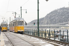 Old Budapest tram Stock Image
