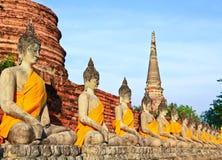 Old buddha Stock Photography