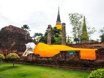 Old Buddha. At Ayudthaya, Thailand Royalty Free Stock Photos