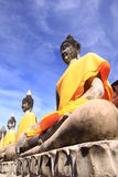 Old Buddha at Ayuttaya Thailand. Old Buddha at Ayuttaya temple in Thailand Stock Photos