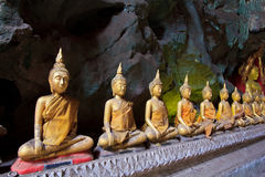Old Buddha in a cave Royalty Free Stock Photo
