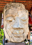 Old Buddha head ancient Lanna Royalty Free Stock Images