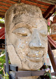 Old Buddha head ancient Lanna Stock Photography