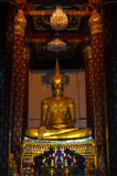 Old Buddha image. Stock Photo