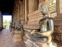 Old Buddha image in Wat Sisaket Royalty Free Stock Photography