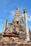 Old Buddha pagoda on blue sky background Stock Photo